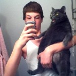 He got the cat by his balls