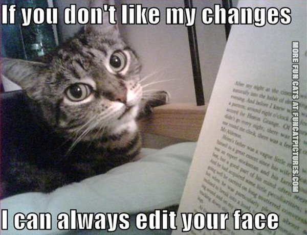 Cat editor don't care what you think