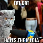 Fat cat hates the media