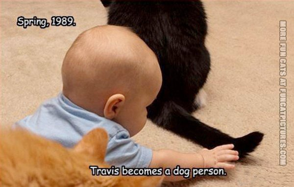 When Travis became a dog person