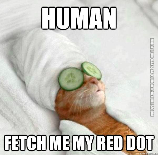Fetch me that red dot