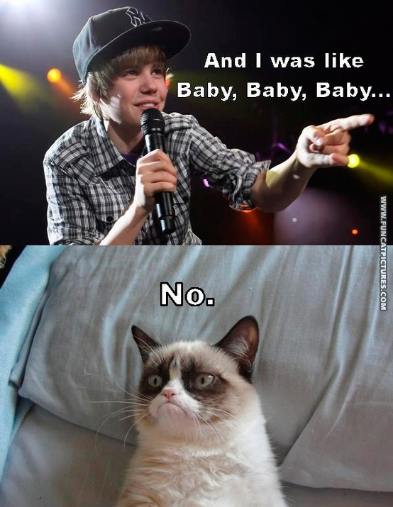 Grumpy is not a Justin Bieber fan