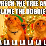 Cats singing their favorite christmas carol